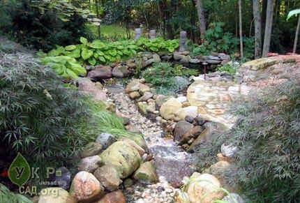 Декоративный садовый ручей