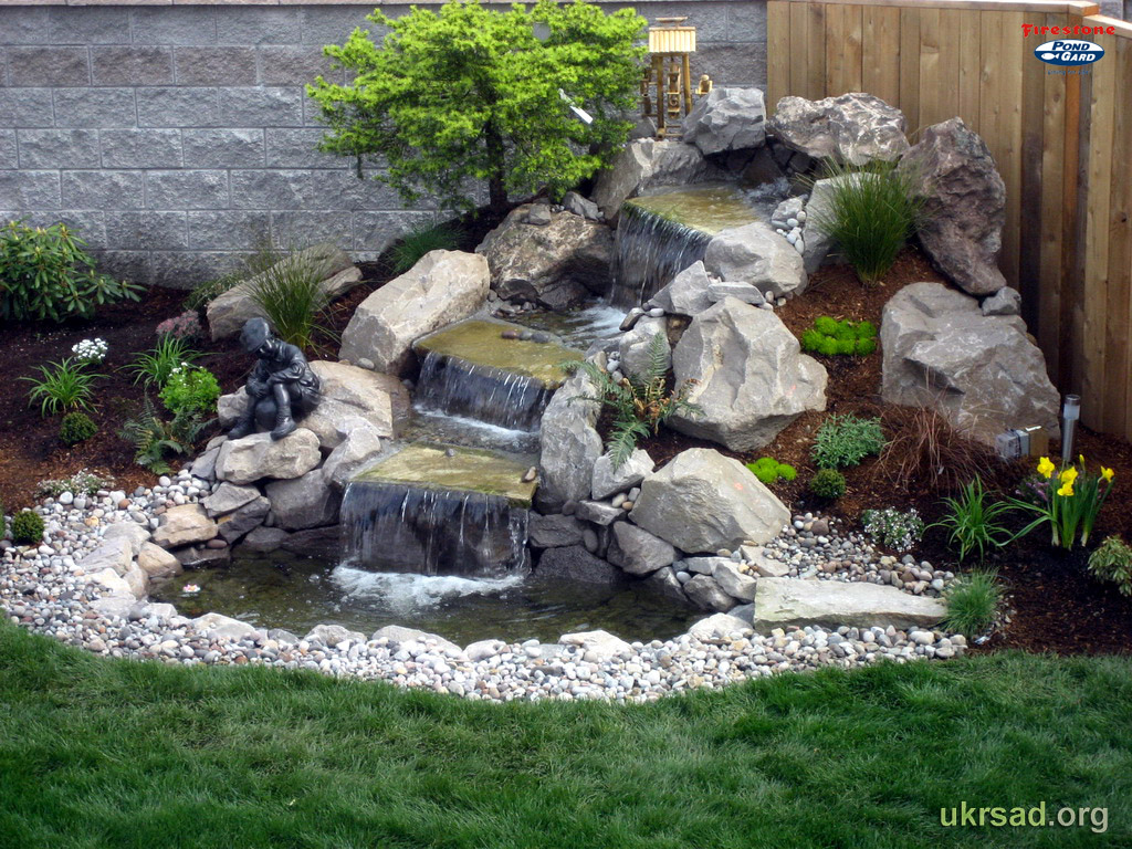 Ландшафтный дизайн фото водопады
